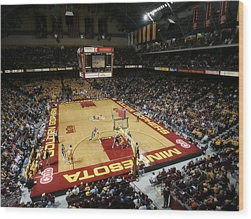 Minnesota Golden Gophers Williams Arena Wood Print by Replay Photos