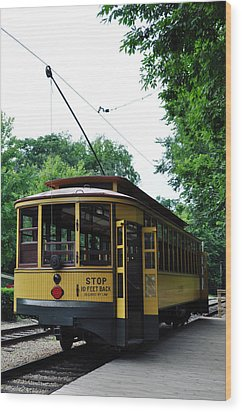Minnesota Streetcar Museum Wood Print