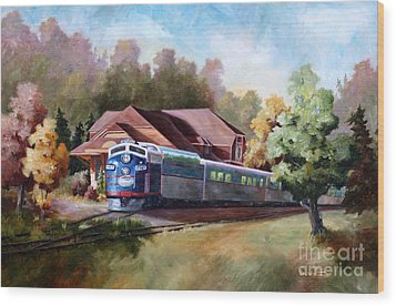 Wood Print featuring the painting Minnesota Zephyr by Brenda Thour
