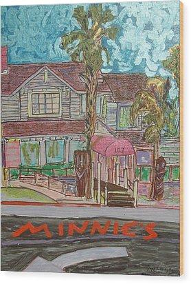 Minnie S Restaurant Wood Print by James Christiansen