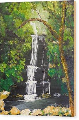 Minnumurra Falls Wood Print