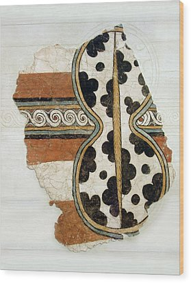 Minoan Livestock Painting Wood Print by Ellen Henneke