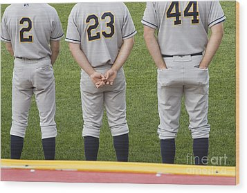 Minor League Baseball Players Wood Print by Jim West