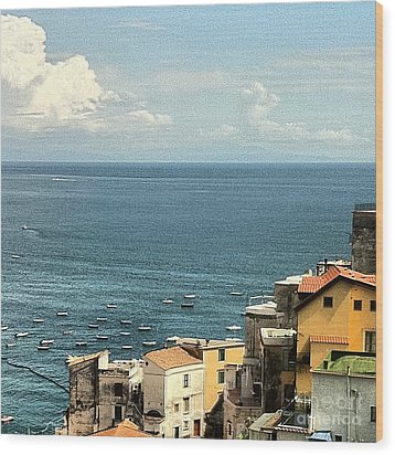 Minori By The Sea Wood Print by H Hoffman