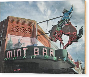Mint Bar Sheridan Wyoming Wood Print