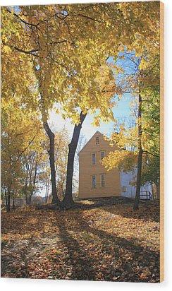 Minuteman National Historic Park Brooks House Wood Print by John Burk