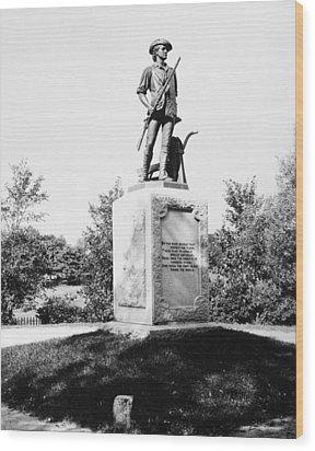 Minuteman Statue Wood Print by Granger