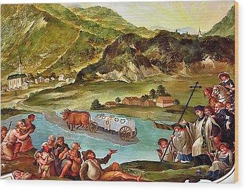 Miracle After Saint Notburga Death Wood Print by Elzbieta Fazel