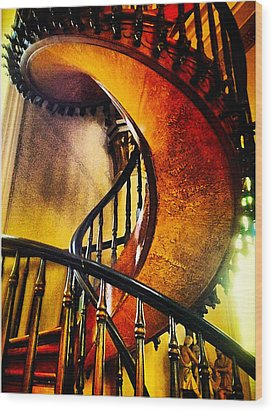 Miracle Staircase Wood Print by Paul Cutright