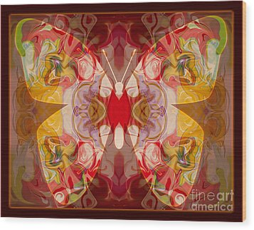 Miracles Can Happen Abstract Butterfly Artwork Wood Print by Omaste Witkowski
