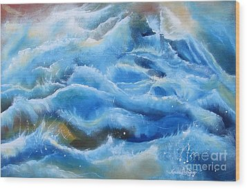 Wood Print featuring the painting Miracles by Nereida Rodriguez