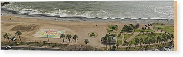 Miraflores Beach Panorama Wood Print by Allen Sheffield