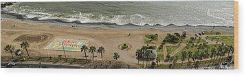 Miraflores Beach Panorama Wood Print