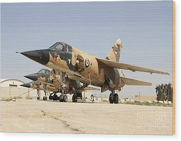 Mirage F.1 Fighter Planes Of The Royal Wood Print by Ofer Zidon