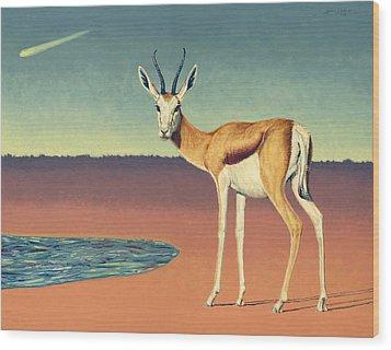 Mirage Wood Print by James W Johnson