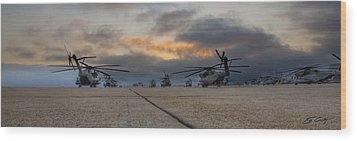 Wood Print featuring the photograph Miramar Tarmac by Ed Cilley