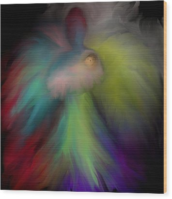 Wood Print featuring the digital art Miranda's Angel by Jessica Wright