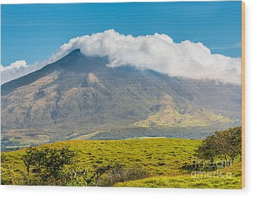 Miravalles Volcano Wood Print by Christina Klausen