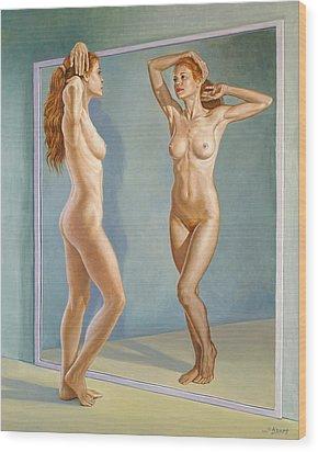 Mirror Image Wood Print by Paul Krapf