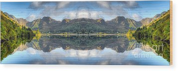 Mirror Lake Wood Print by Adrian Evans