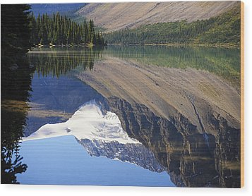 Mirror Lake Banff National Park Canada Wood Print
