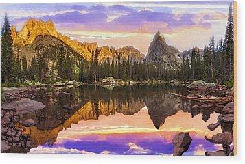 Mirror Lake Yosemite National Park Wood Print by Bob and Nadine Johnston