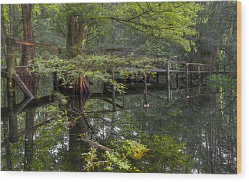 Mirror To The Soul Wood Print by Debra and Dave Vanderlaan