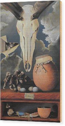 Curio - Pastel Wood Print