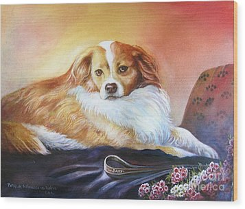 Miss Daisy Wood Print by Patricia Schneider Mitchell