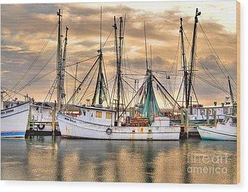 Miss Hale Shrimp Boat Wood Print