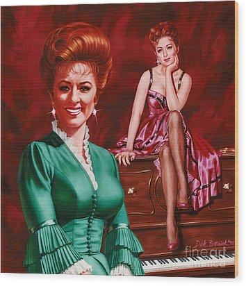 Miss Kitty Wood Print by Dick Bobnick