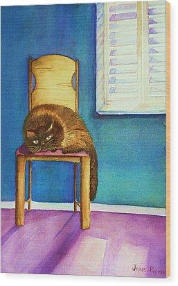 Kitty's Nap Wood Print