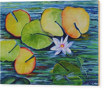 Whimsical Waterlily Wood Print