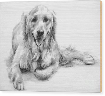 Wood Print featuring the drawing Miss Maddie  by Meagan  Visser