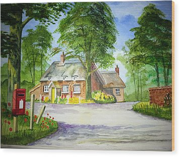 Miss Marples Cottage  St Mary-meade Wood Print by Ian Scott-Taylor