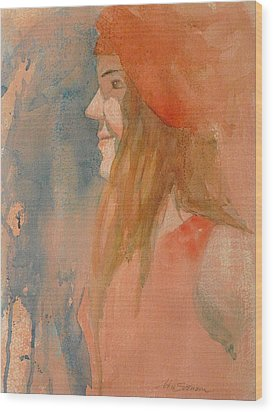Miss Melody Wood Print by John  Svenson