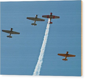 Wood Print featuring the photograph Missing Man Flyover by Allen Sheffield
