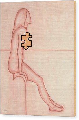 Missing Piece 2 Wood Print by Patrick J Murphy