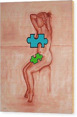 Missing Piece 6 Wood Print by Patrick J Murphy