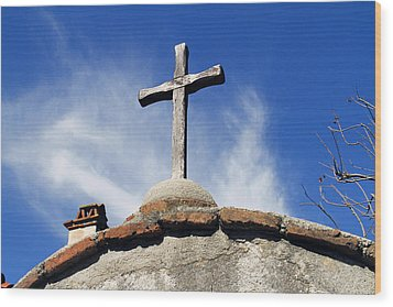 Mission Cross Wood Print by Shoal Hollingsworth