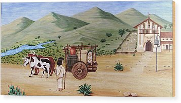 Wood Print featuring the painting Mission Dolores by Evangelina Portillo