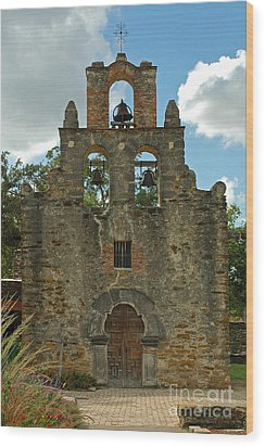 Mission Espada Wood Print by Olivia Hardwicke