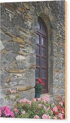 Mission Espada Window Wood Print
