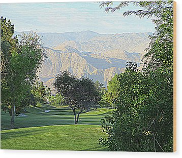 Mission Hills Golf Wood Print by Randall Weidner