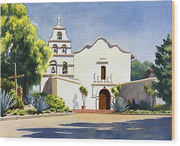 Mission San Diego De Alcala Wood Print by Mary Helmreich
