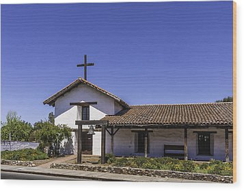 Mission San Francisco Solano Wood Print by Karen Stephenson