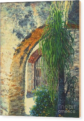 Mission San Jose Wood Print by Beverly Theriault