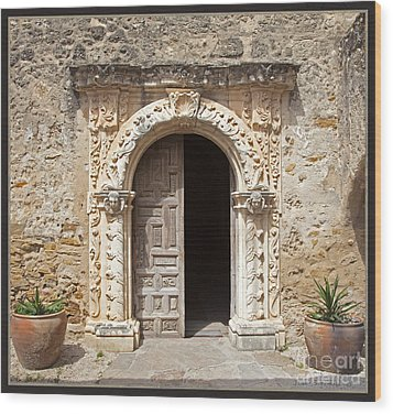 Mission San Jose Chapel Entry Doorway Wood Print