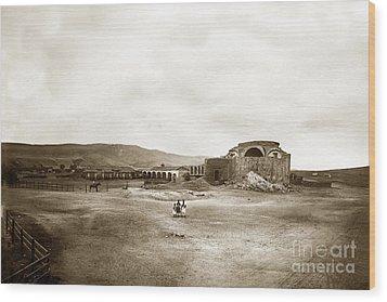 Mission San Juan Capistrano California Circa 1882 By C. E. Watkins Wood Print
