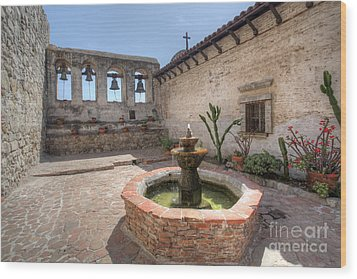 Wood Print featuring the photograph Mission Bells San Juan Capistrano by Martin Konopacki